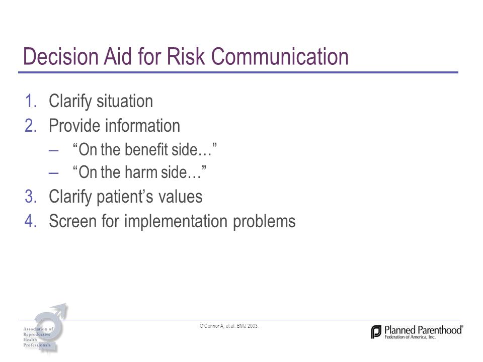 Decision Aid for Risk Communication