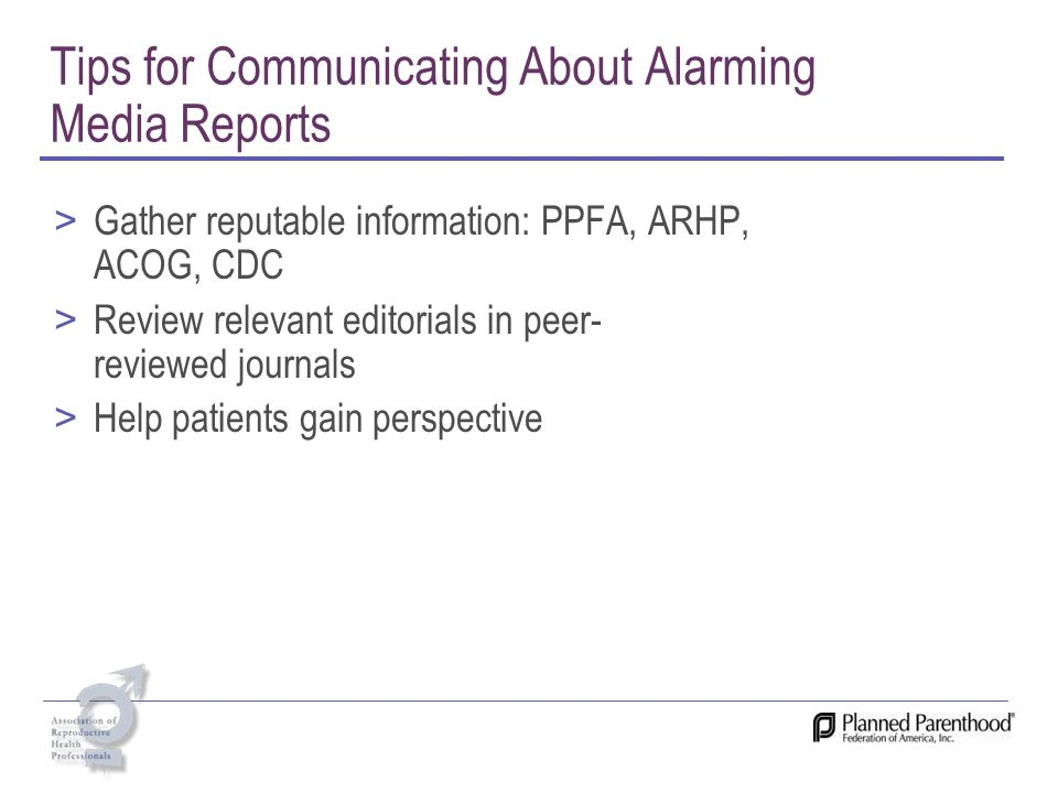 Tips for Communicating About Alarming Media Reports