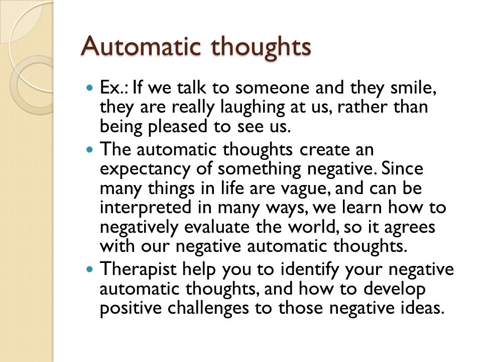 Cognitive behavioral therapy ppt download