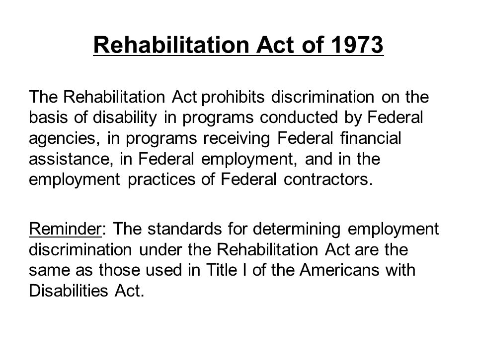 Rehabilitation Act of 1973