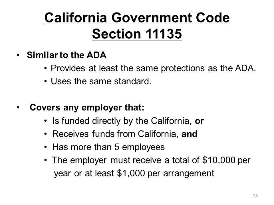 California Government Code Section 11135