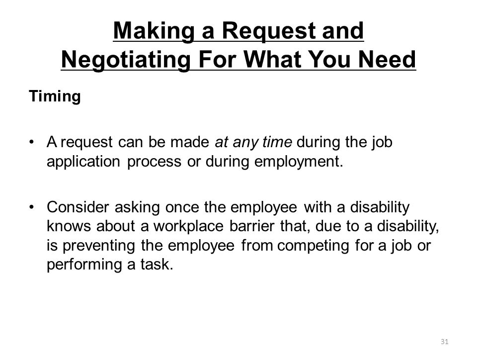 Making a Request and Negotiating For What You Need