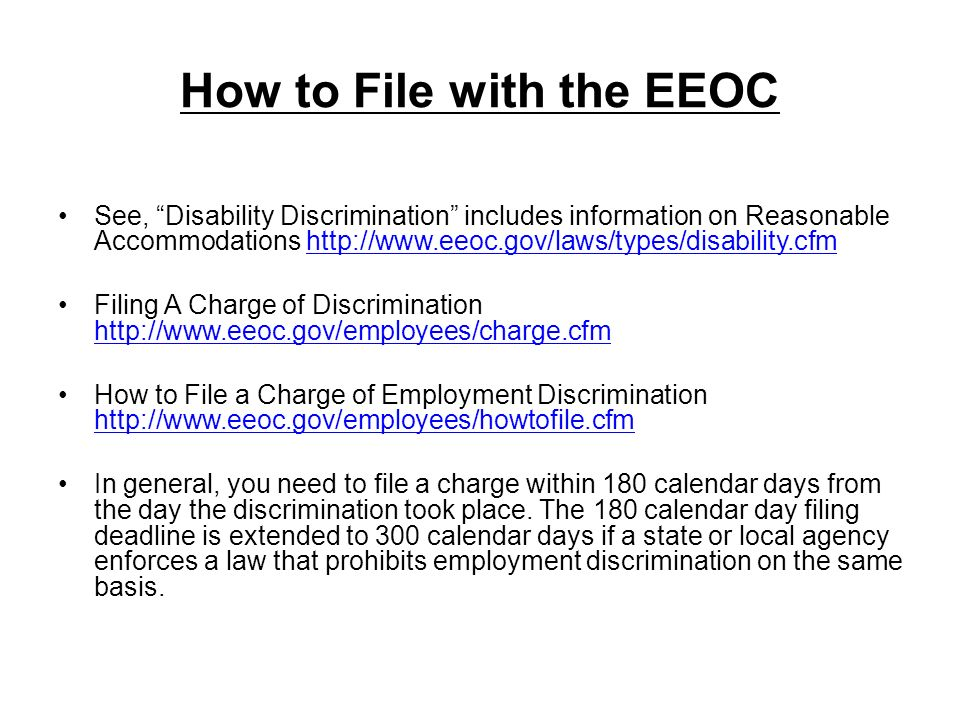 How to File with the EEOC