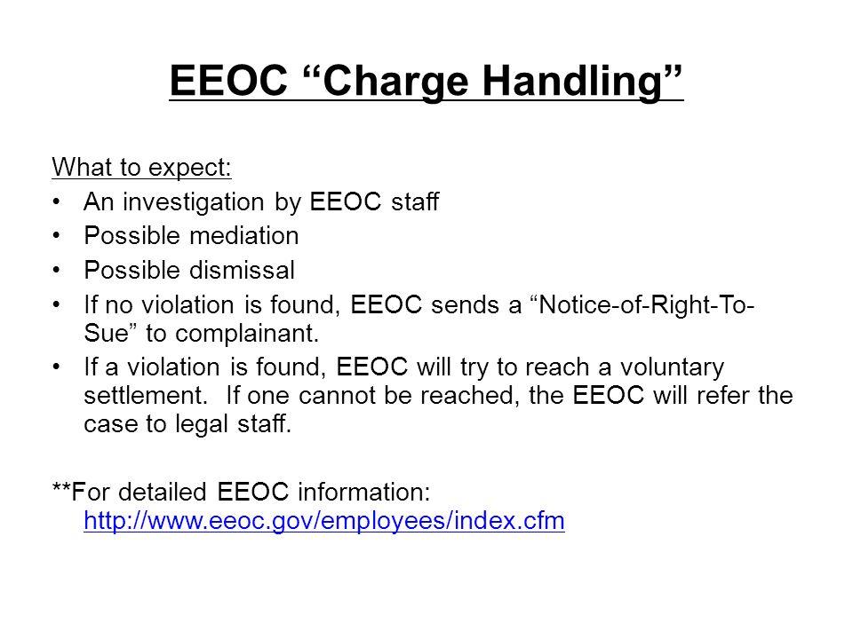 EEOC Charge Handling
