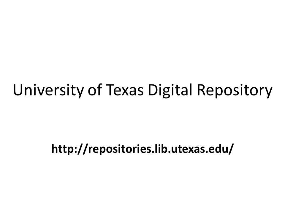 University of Texas Digital Repository