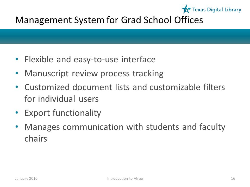 Management System for Grad School Offices