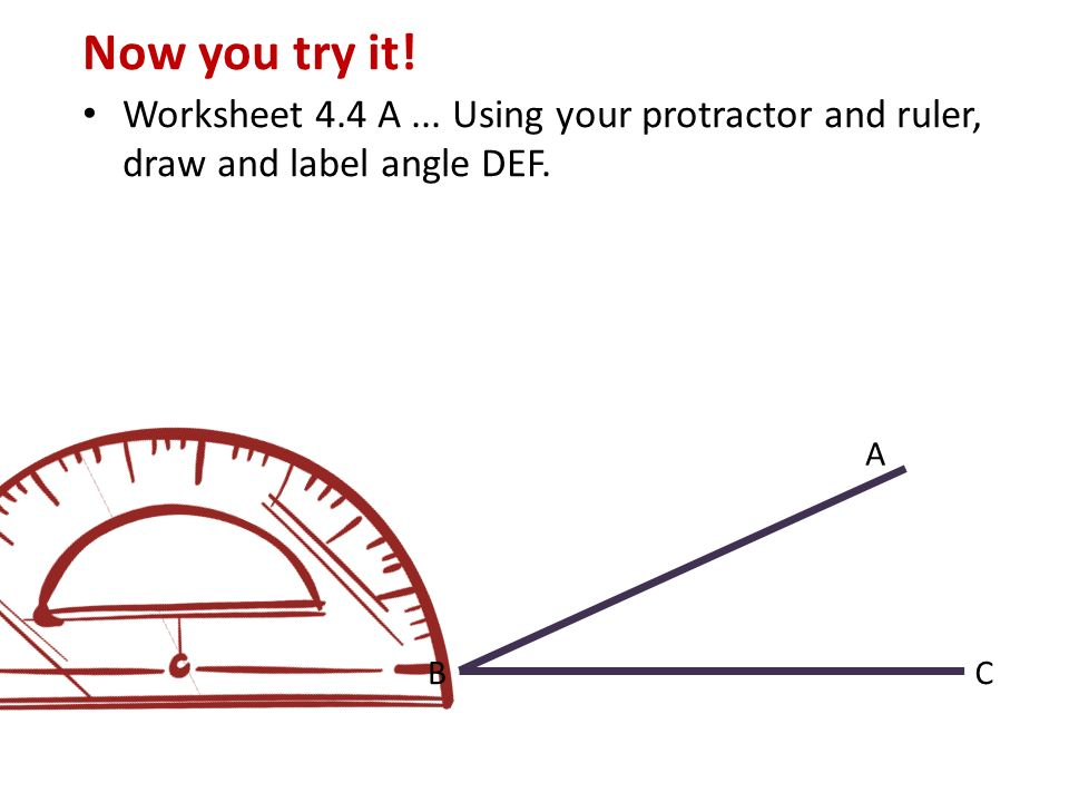 Drawing Lines Using A Ruler : Today we will learn review how to measure angles with a
