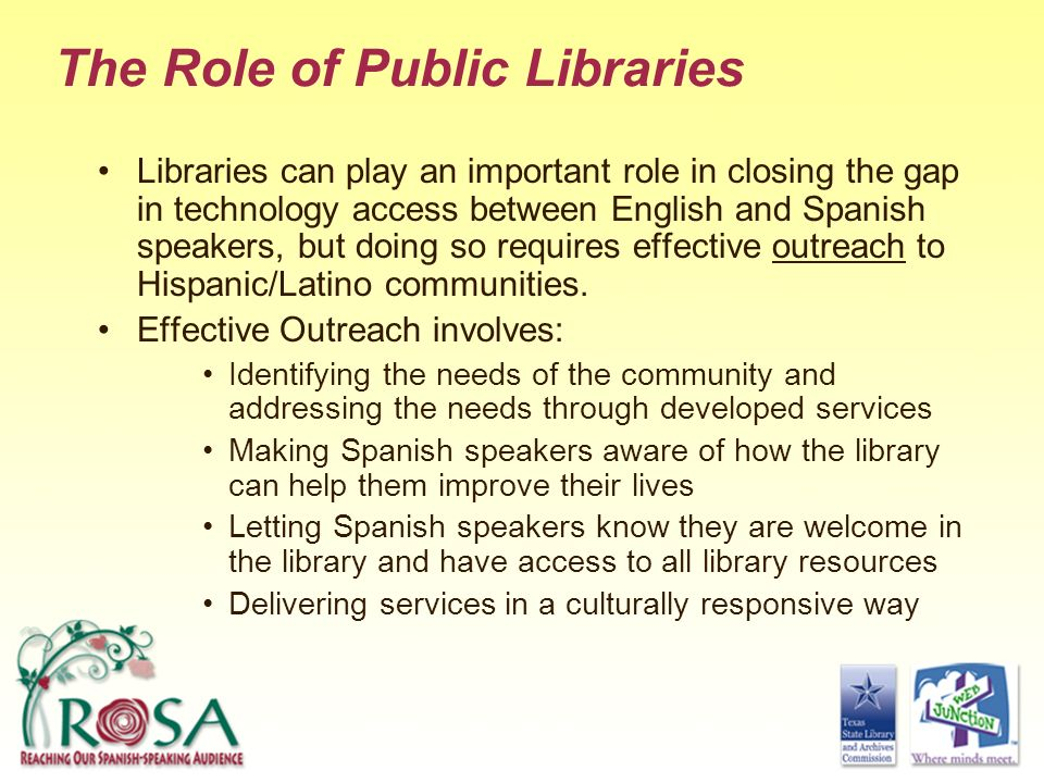 The Role of Public Libraries