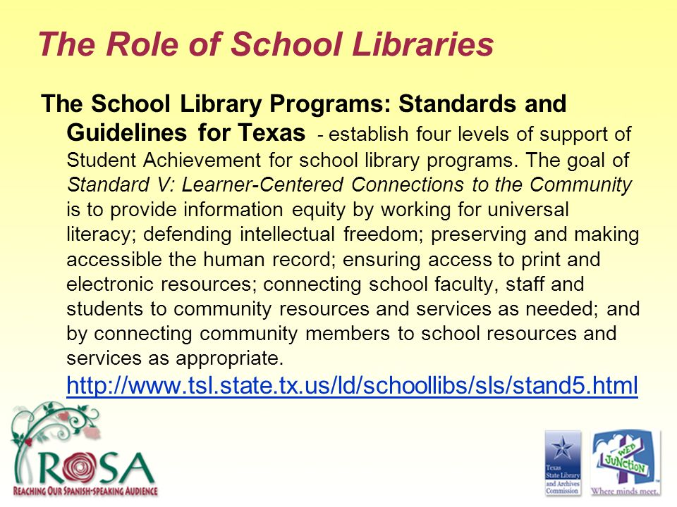 The Role of School Libraries