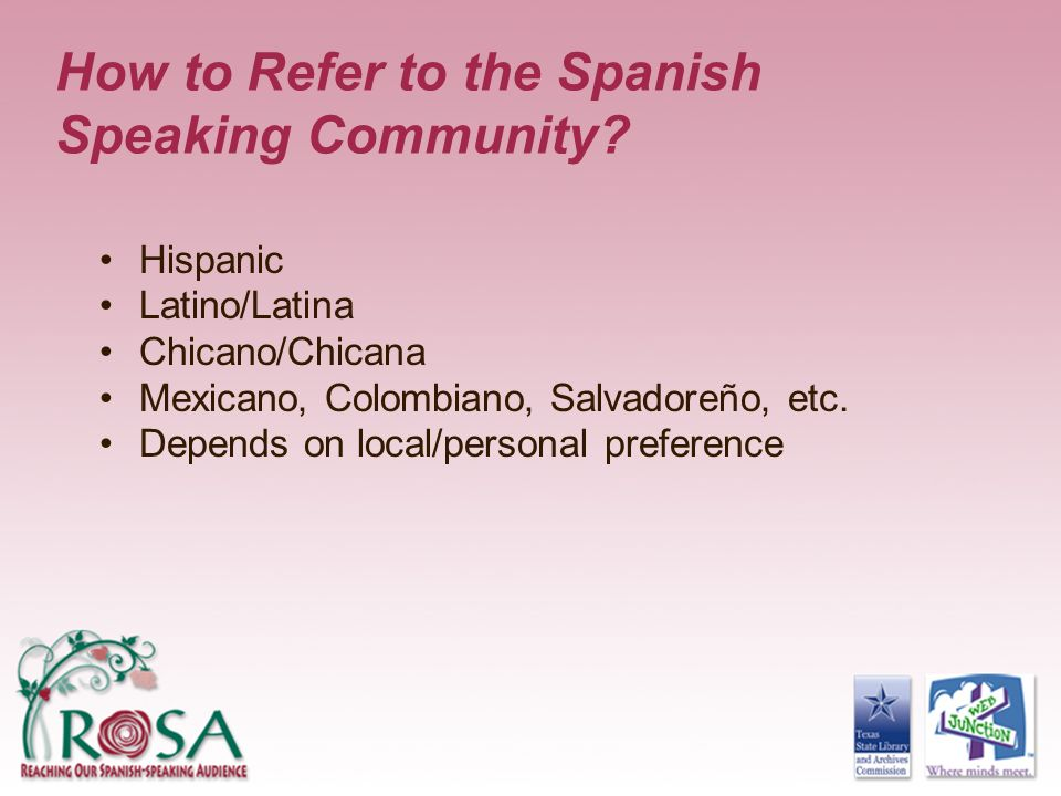 How to Refer to the Spanish Speaking Community