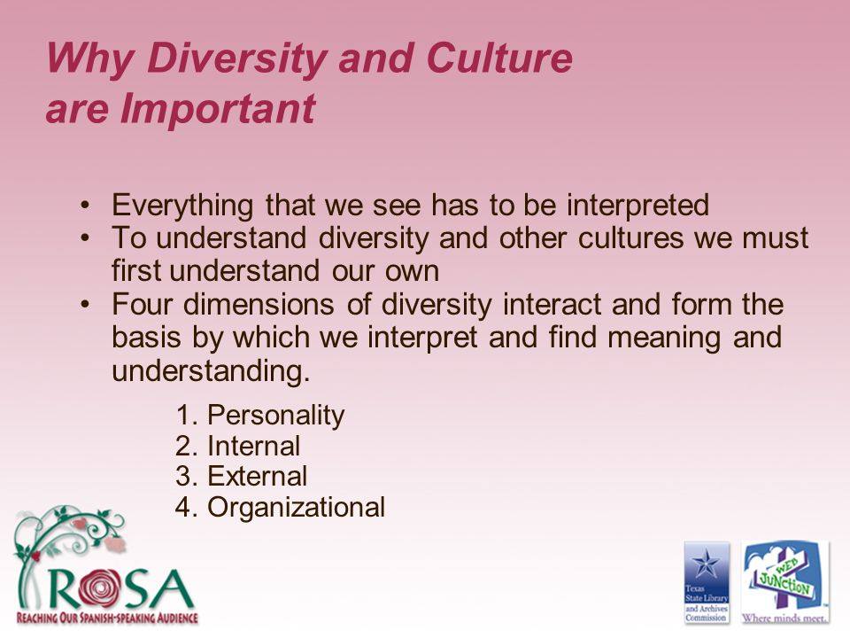 Why Diversity and Culture are Important
