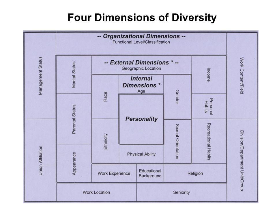 Four Dimensions of Diversity
