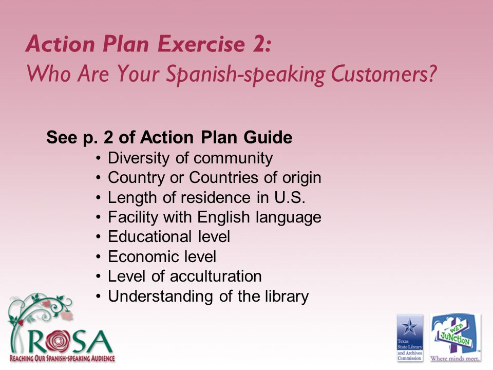 Action Plan Exercise 2: Who Are Your Spanish-speaking Customers