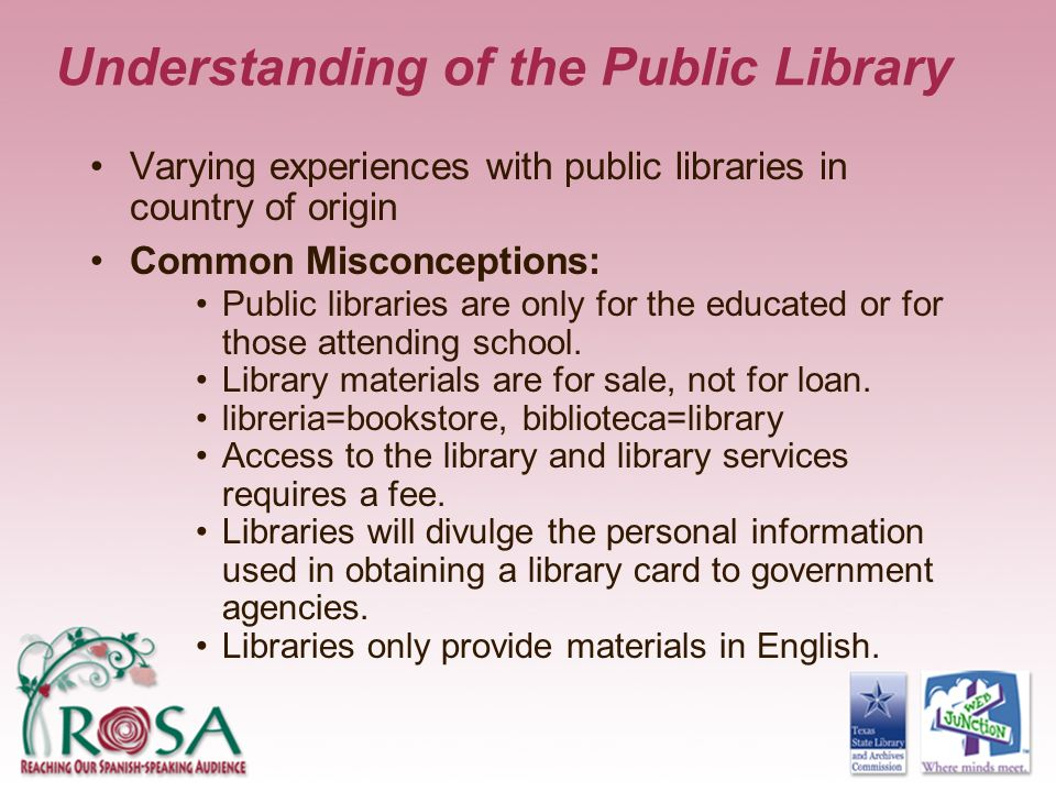 Understanding of the Public Library