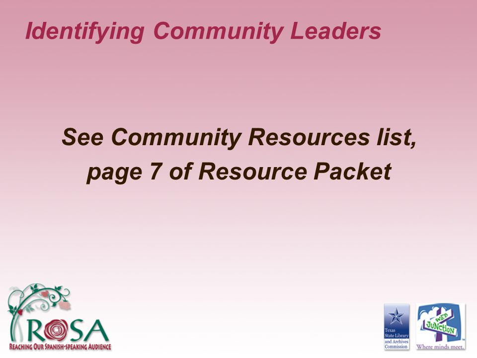 Identifying Community Leaders