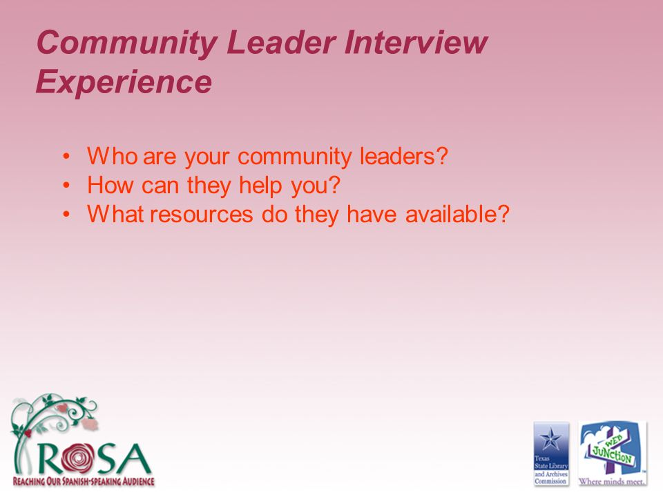Community Leader Interview Experience