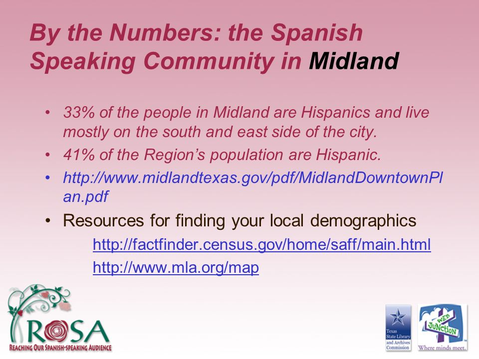 By the Numbers: the Spanish Speaking Community in Midland