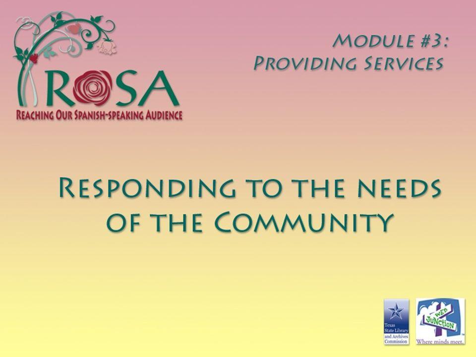MODULE 3: PROVIDING SERVICES