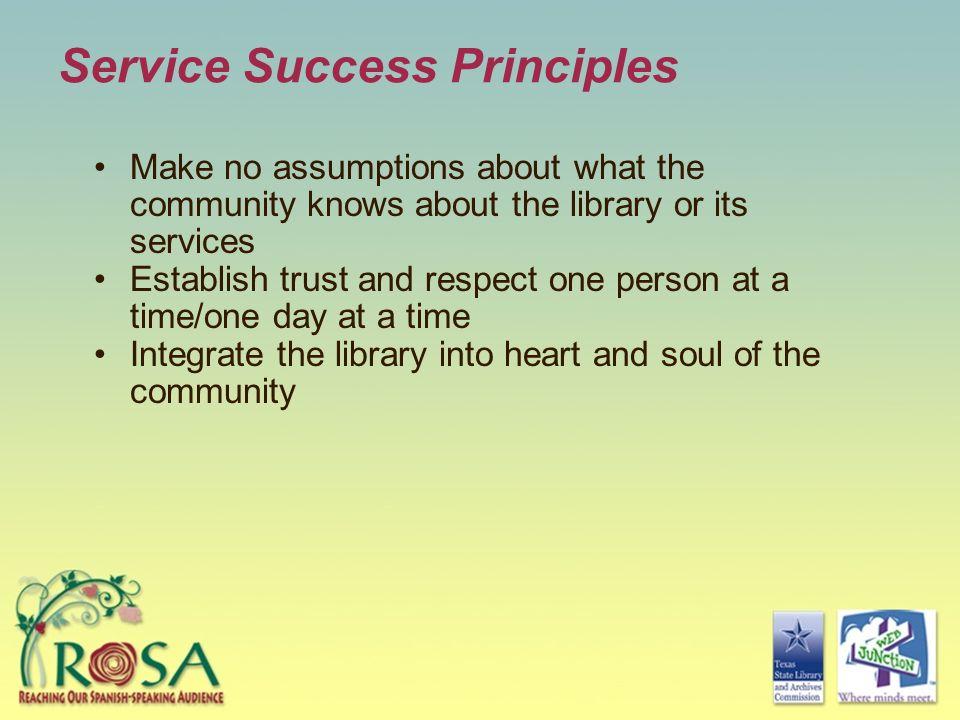 Service Success Principles