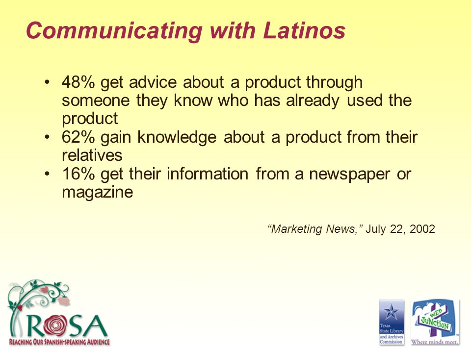 Communicating with Latinos