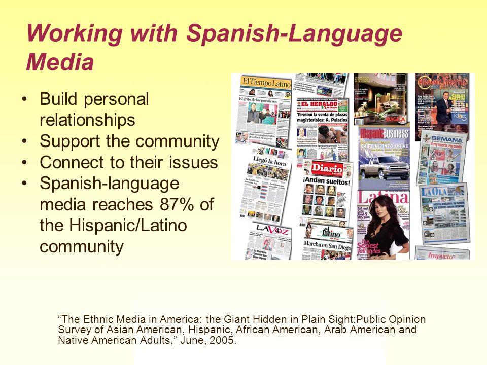 Working with Spanish-Language Media