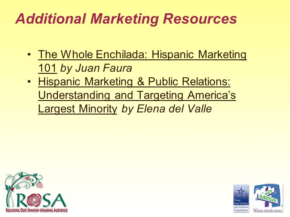 Additional Marketing Resources