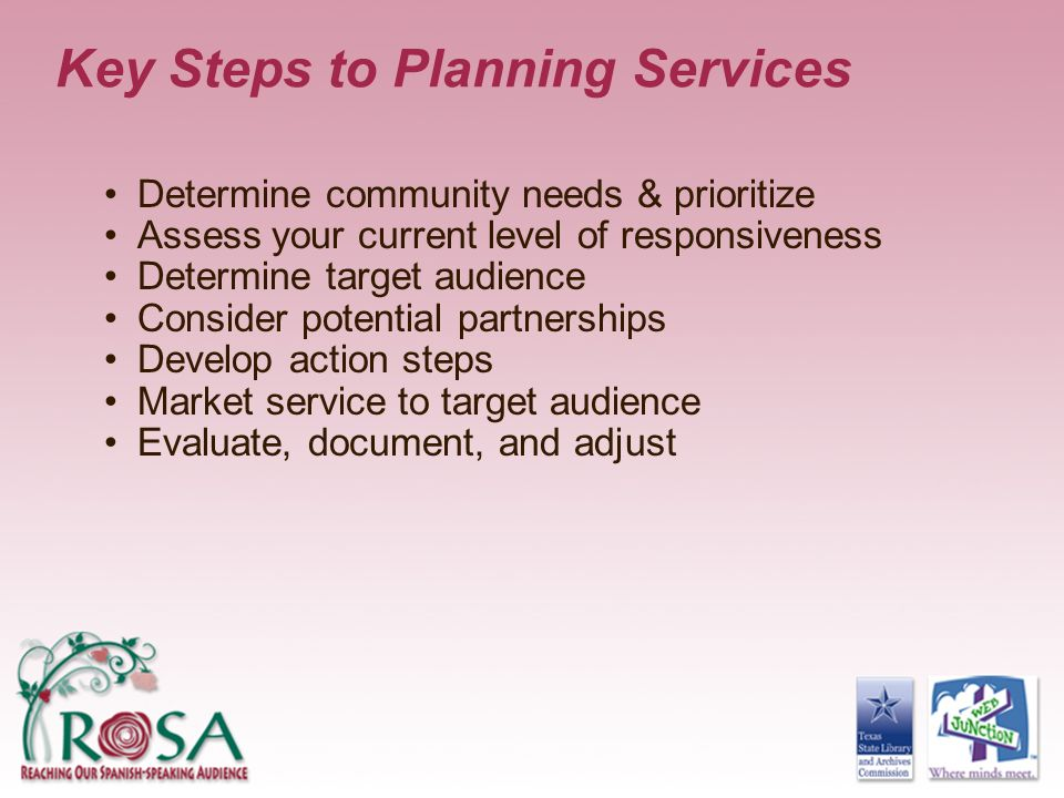 Key Steps to Planning Services
