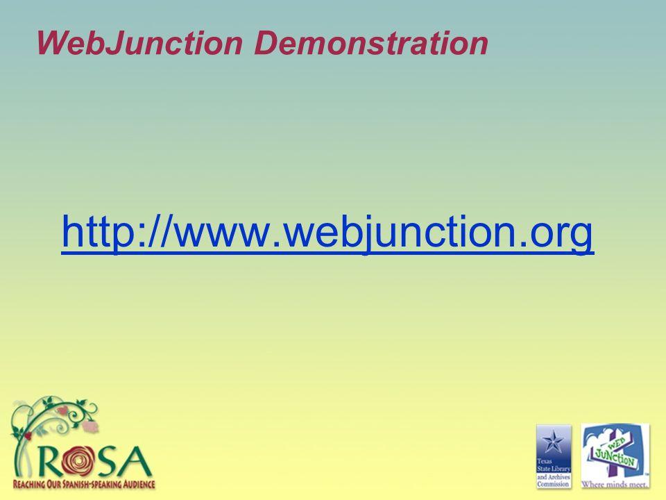 WebJunction Demonstration