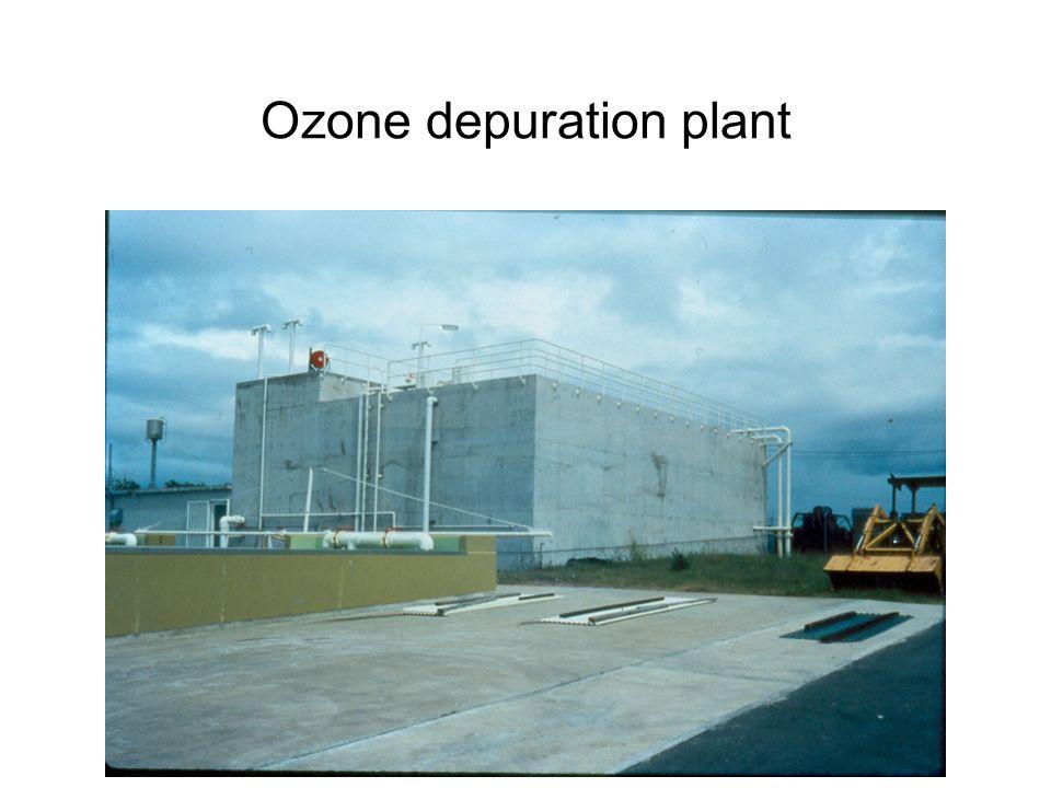 Ozone depuration plant