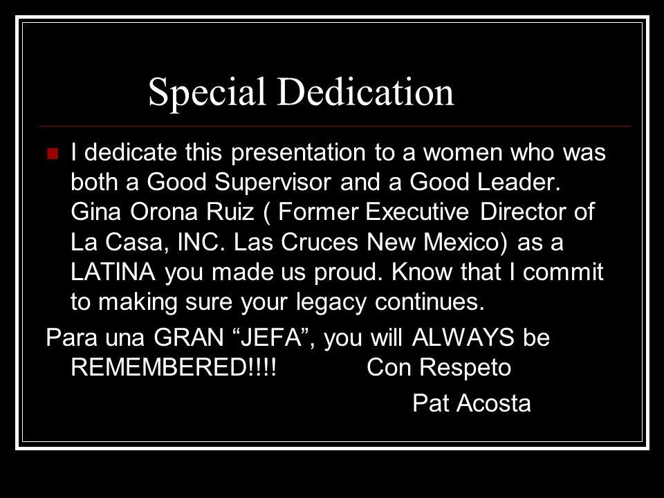Special Dedication