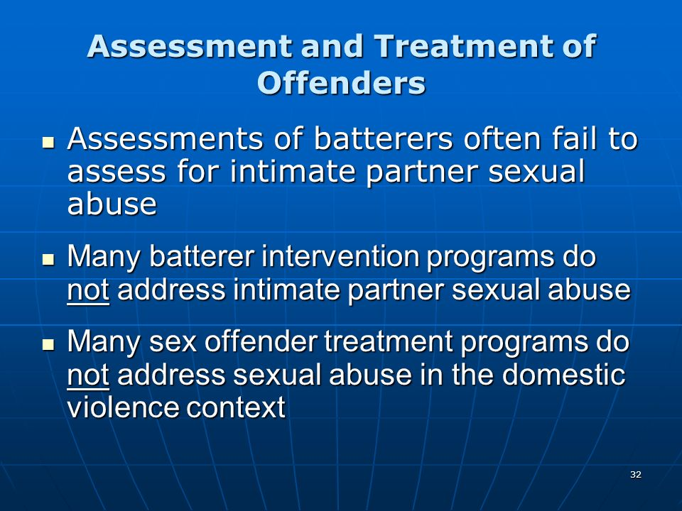 Assessment and Treatment of Offenders