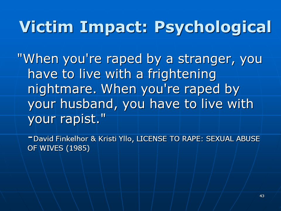 Victim Impact: Psychological