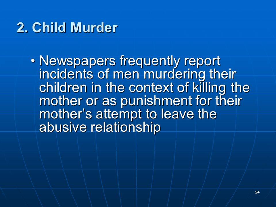 2. Child Murder