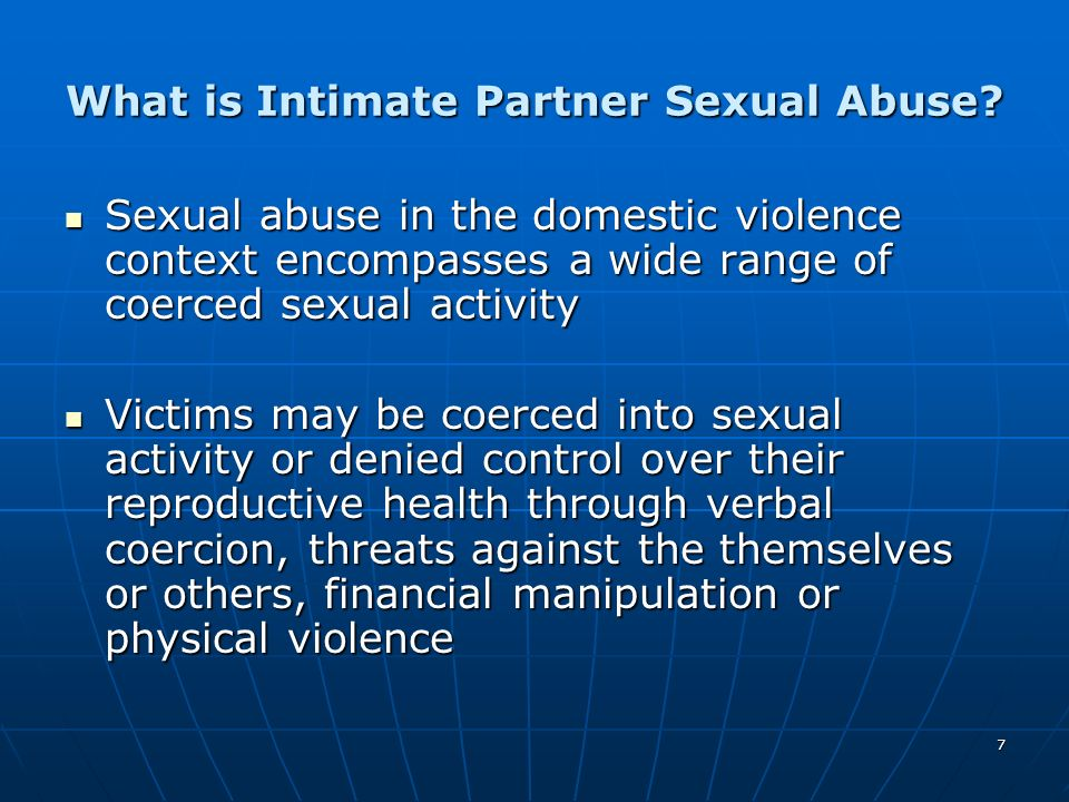 What is Intimate Partner Sexual Abuse
