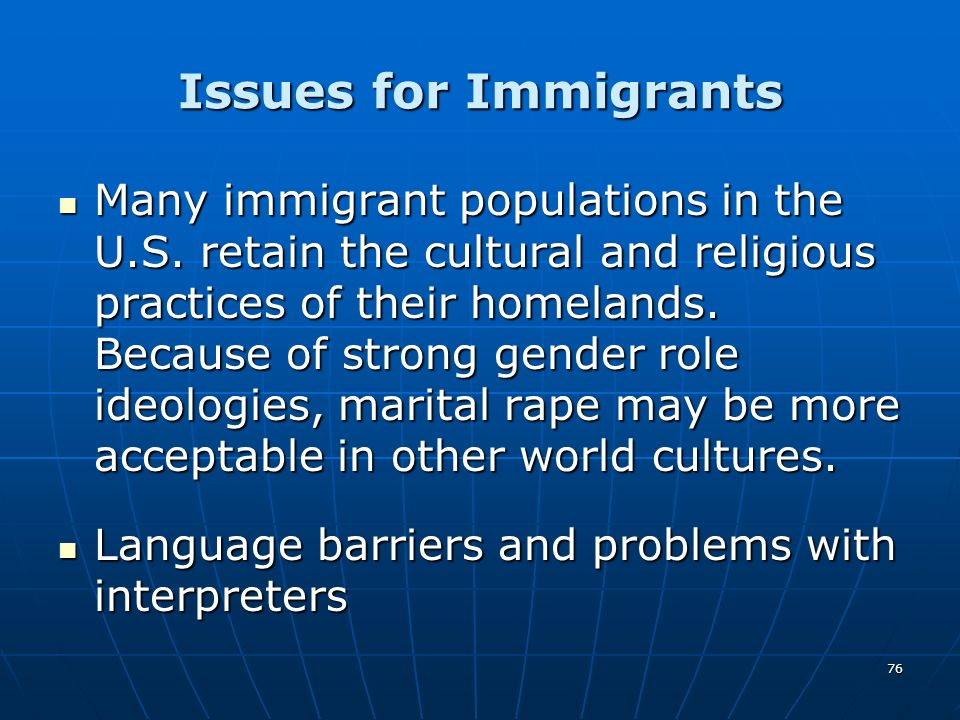 Issues for Immigrants