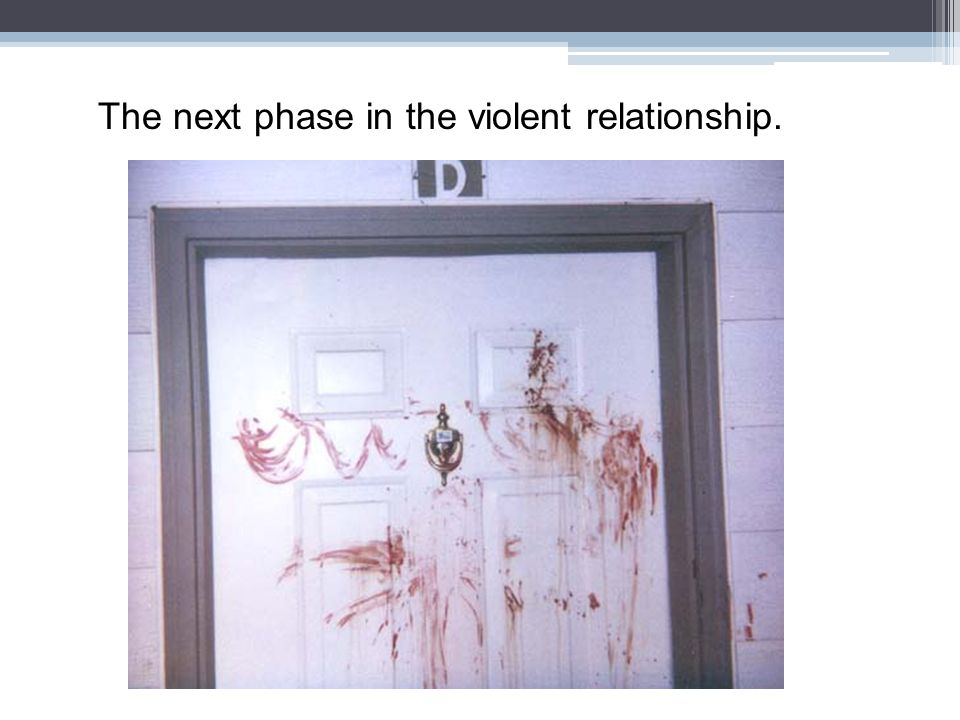 The next phase in the violent relationship.