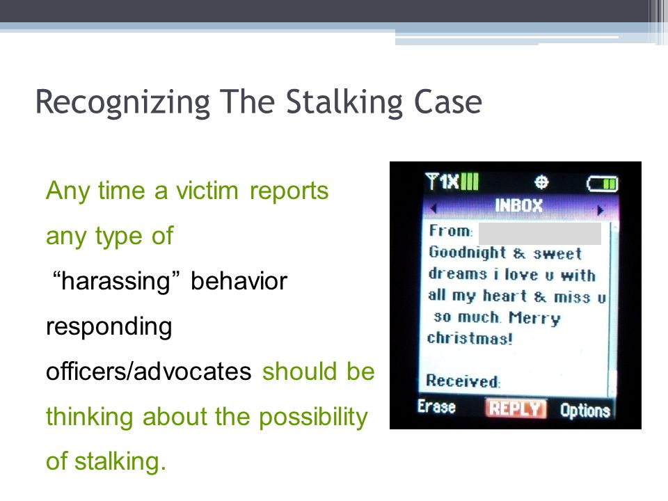 Recognizing The Stalking Case