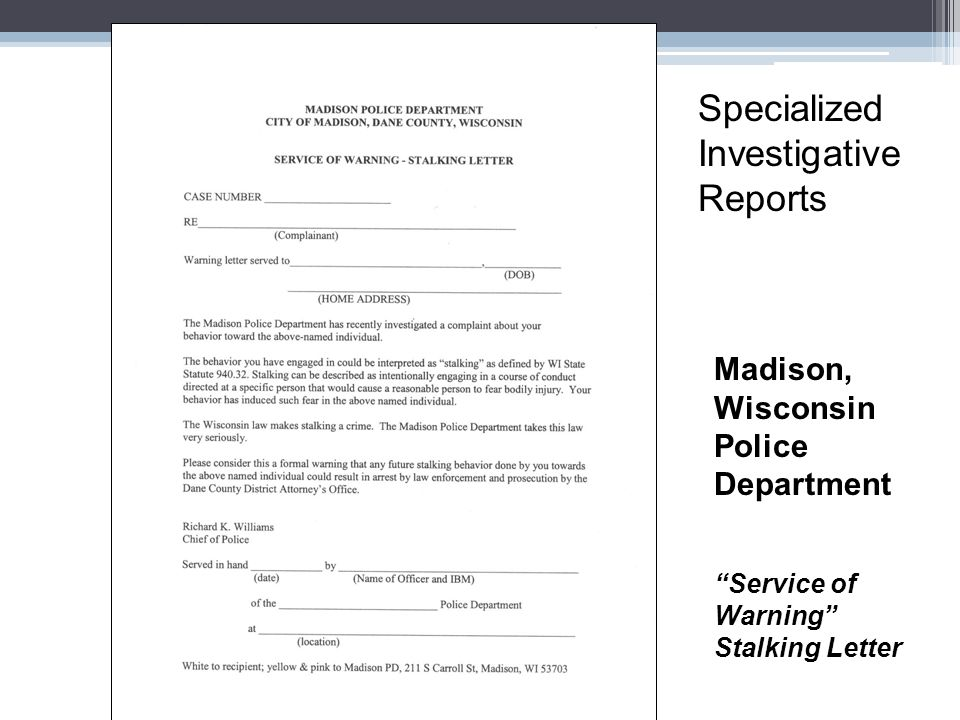 Specialized Investigative Reports