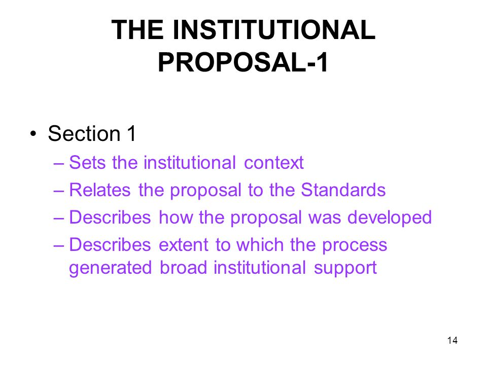 THE INSTITUTIONAL PROPOSAL-1