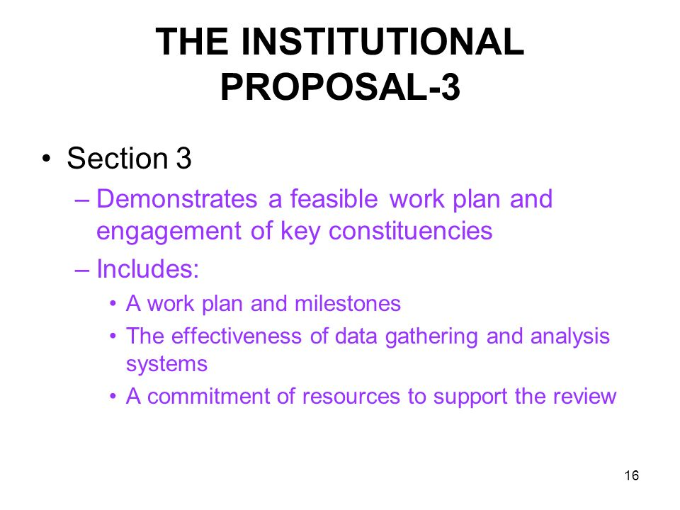 THE INSTITUTIONAL PROPOSAL-3