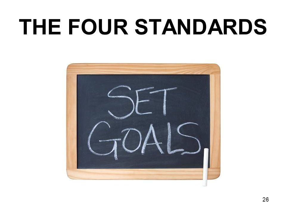 THE FOUR STANDARDS