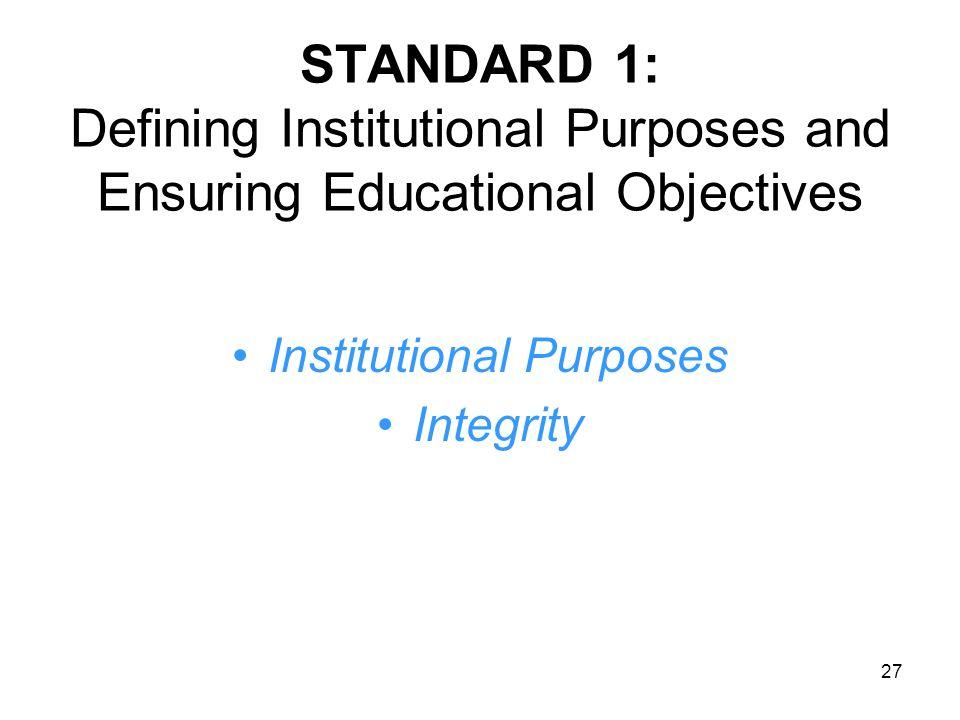 Institutional Purposes