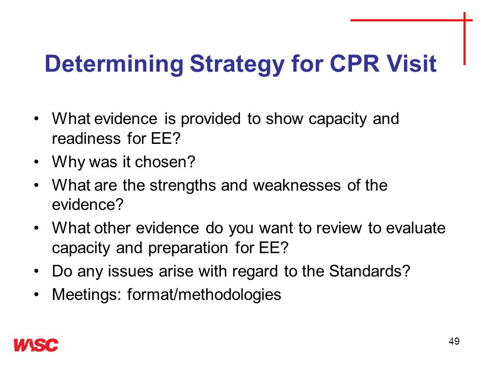 Determining Strategy for CPR Visit