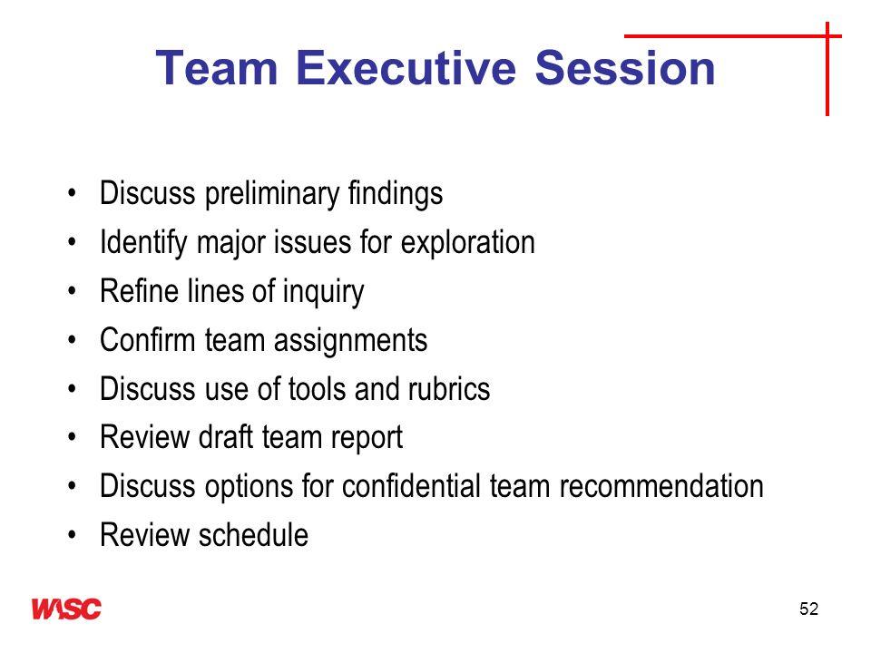 Team Executive Session