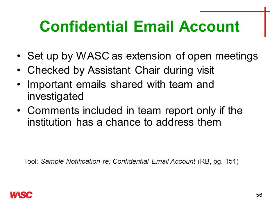 Confidential Email Account
