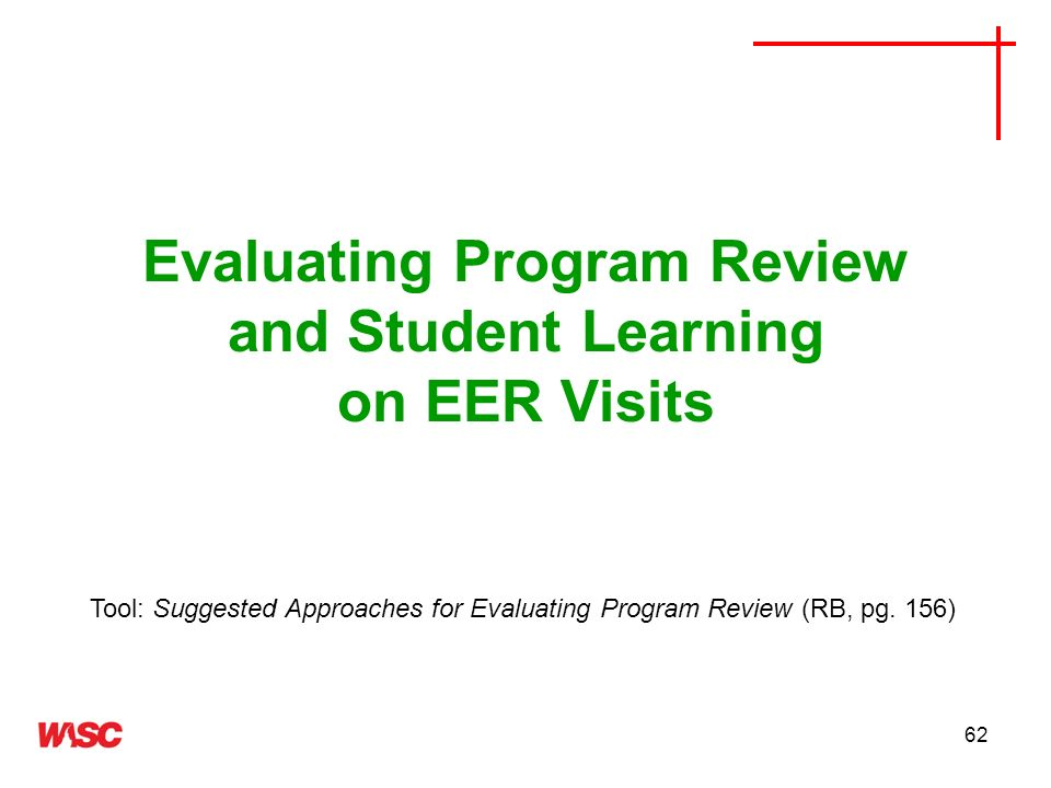 Evaluating Program Review and Student Learning on EER Visits