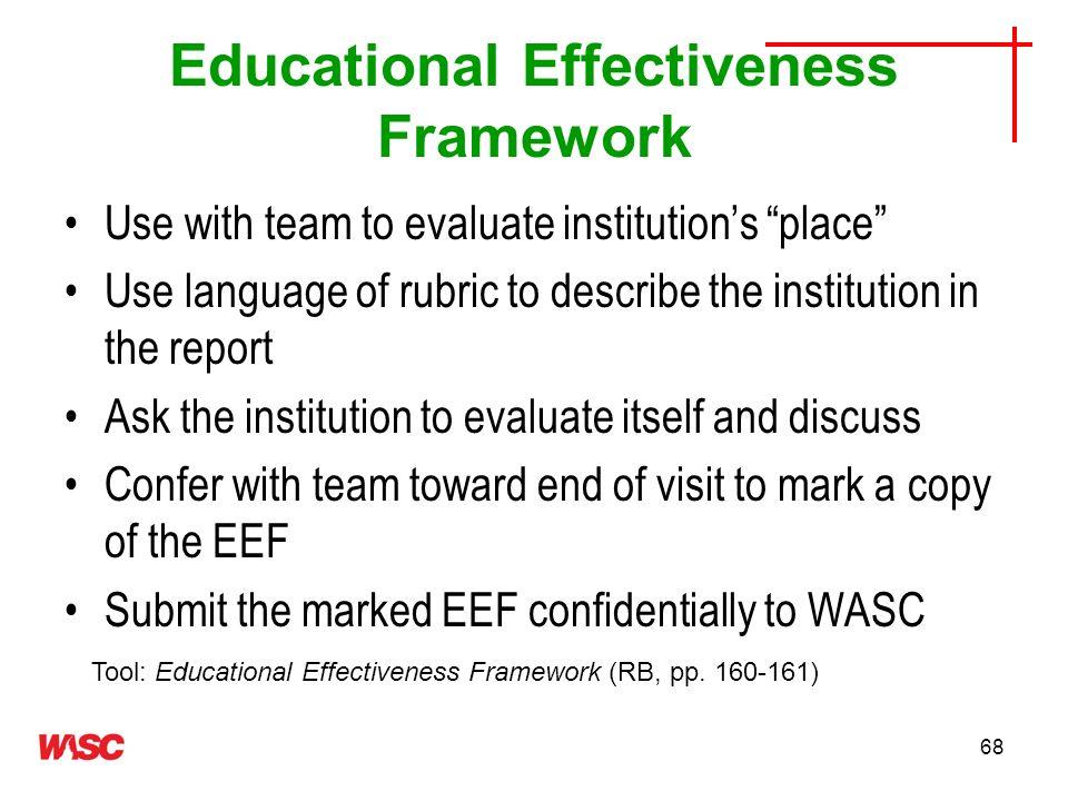 Educational Effectiveness Framework