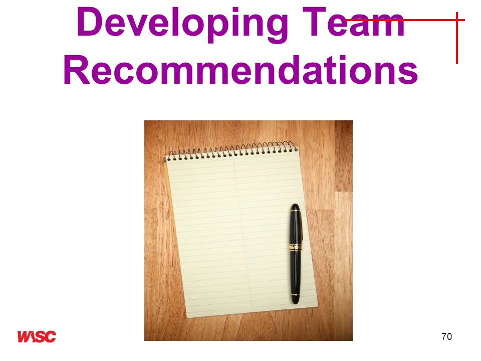 Developing Team Recommendations