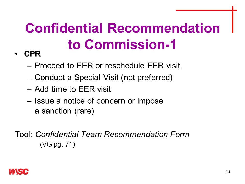 Confidential Recommendation to Commission-1