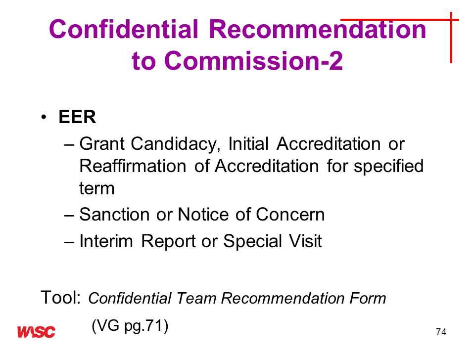 Confidential Recommendation to Commission-2